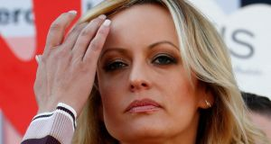 Stormy Daniels sued Mr Trump for defamation in March 2018, before her arrest, and was seeking release from a non-disclosure agreement she signed before the 2016 presidential election to remain silent about the affair she said she had with Mr Trump. Photograph: Reuters