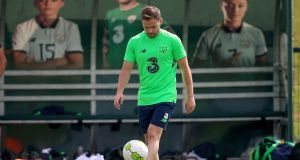 Alan Judge during a Republic of Ireland training session last May. Photograph: Tommy Dickson/Inpho