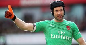Arsenal goalkeeper Petr Cech will retire at the end of the season. Photograph: PA