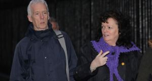 A file photograph of John and Jacqueline John Keenaghan leaving the Four Courts last November. Photograph: Collins Courts