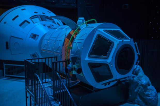 The Space Simulation Room in the US Space and Rocket Center in Huntsville, Alabama. Photograph: Robert Rausch/The New York Times