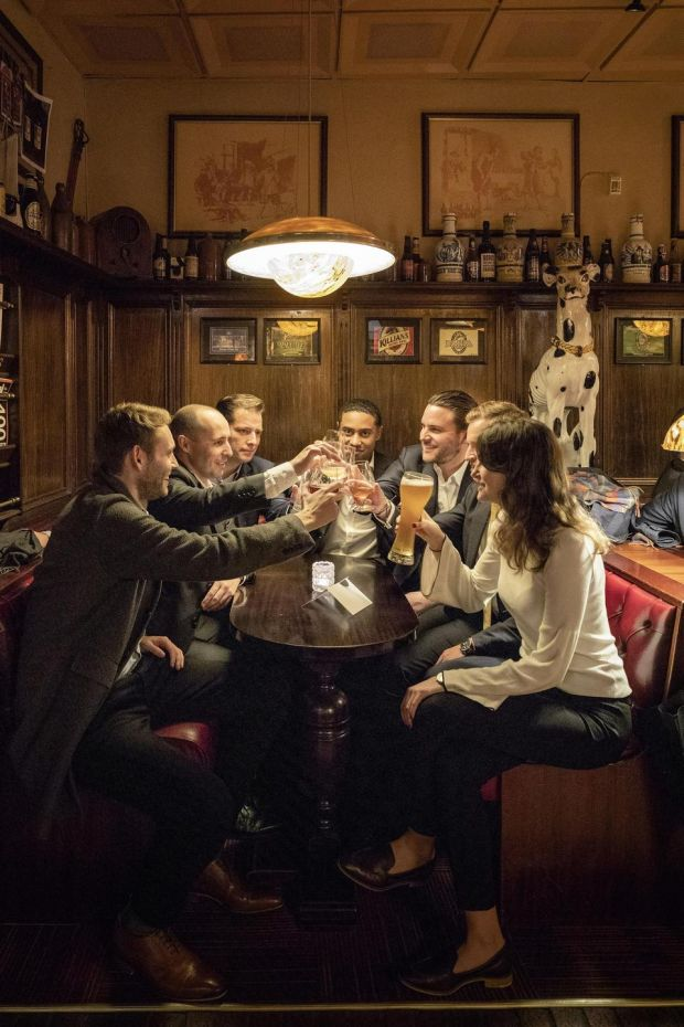 The Cardinal bar in Stavanger, Norway. The bar serves the Vestlandet region's kveik beers. Photograph: Andreas Meichsner/The New York Times