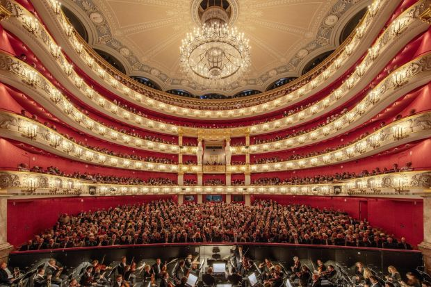 The Bavarian State Opera right before a performance in Munich, Germany. The opera house has emerged as one of the most exciting opera houses in Europe. Photograph: Andreas Meichsner/The New York Times