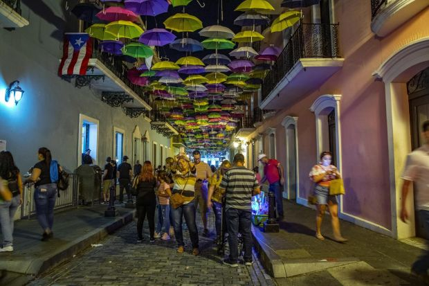 Old San Juan, in Puerto Rico. Recovering from Hurricane Maria, in 2019 the island represents so many fragile spots around the globe and tourism could be the key to helping the local economy. Photograph: Tony Cenicola/The New York Times