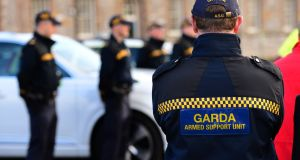 The two men are being held at Bailieborough Garda station. File photograph: Dara Mac Dónaill/The Irish Times