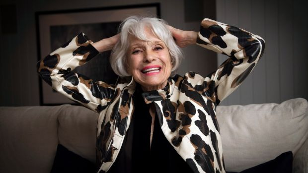 Carol Channing at the Ice Palace Hotel, New York in 2013. Photograph: Deidre Schoo/The New York Times