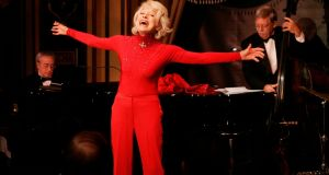 Carol Channing performs during her one woman show, The First 80 Years are the Hardest,  in New York in 2005. Photograph: Richard Drew/AP