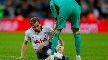 Tottenham striker Harry Kane will be sidelined until March after suffering ankle ligament damage in Sunday's defeat against Manchester United. Photo: Ian Kington/Getty Images