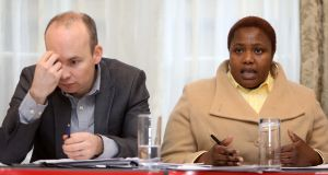 Solidarity TD Paul Murphy and Silbaziso Ndlovu: The Solidarity Bill, if passed, would restore automatic citizenship rights to all children born in the State. Photograph: Leah Farrell/RollingNews.ie