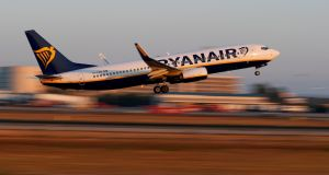 "Ryanair fell more than 2.3 per cent to €10.04, after it appeared to end its ""Ryanair Holidays"" package travel brand"