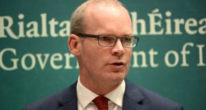 Simon Coveney said Cabinet discussion covered areas of medicines supply, the Common Travel Area and transport. Photograph: Dara Mac Donaill
