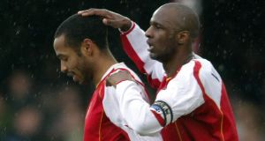 Henry and Vieira formed quite a partnership at Arsenal. Photo: Carl de Souza/Getty Images