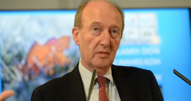 "Shane Ross identified the Irish, UK and French ports, in particular Dublin, Rosslare, Dover in England and Calais in France, the main ""pinch-points"" where delays would emerge. Photograph: Dara Mac Donaill / The Irish Times"