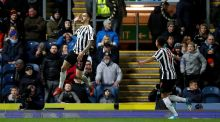 Newcastle United's Joselu celebrates scoring his side's third goal of the game during the Emirates FA Cup third round replay against Blackburn Rovers. Photo: Martin Rickett/PA Wire