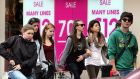Face-to-face shopping fell 3.9 per cent in December. Photograph: Matt Kavanagh/The Irish Times