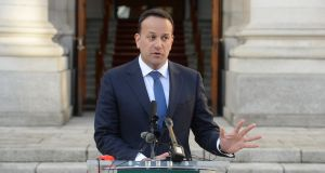 Taoiseach Leo Varadkar said if the UK moved on its red lines of ruling out membership of the customs union and single market, the EU position would also evolve.  Photograph: Dara Mac Donaill