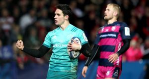 Joey Carbery inspired Munster to a comprehensive win over Gloucester at Kingsholm. Photograph: Dan Sheridan/Inpho