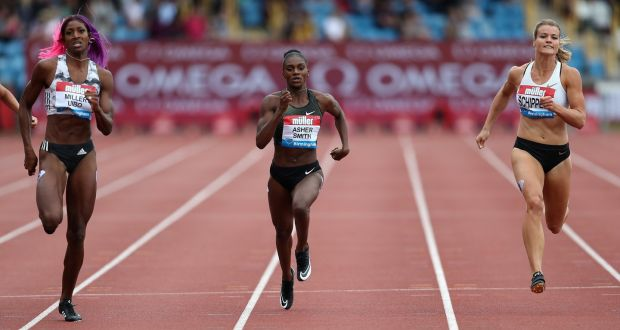 bd479b507e6138 British sprinter Dina Asher-Smith – who clocked 10.85 seconds in winning  gold at the