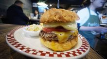 Will the burger survive? Photograph: AP Photo/ Eugene Hoshiko