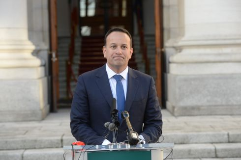 BREXIT STRATEGY: Taoiseach Leo Varadkar makes a statement at Government Buildings on the outcome of the 'Meaningful Vote' in Westminster. Photograph: Dara Mac Dónaill/The Irish Times