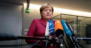 """We think that it is up to the British side ... to tell us how things move on from here,"" German chancellor Angela Merkle said on Wednesday. Photograph:  Kay Nietfeld/AFP/Getty Images"