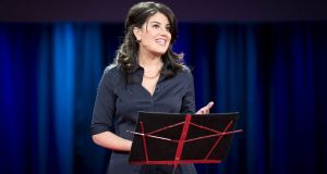 Monica Lewinsky advocates for a safer social media environment and addresses such topics as digital resilience, privacy, cultivating compassion, overcoming shame, and equality for women. Photograph: James Duncan Davidson/TED/REUTERS