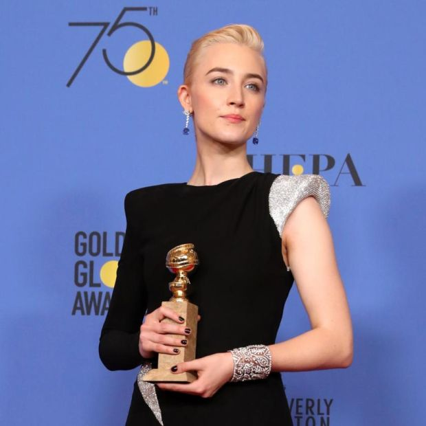 Saoirse Ronan won a Golden Globe for playing Christine McPherson in Lady Bird. Photograph: Mike Nelson/EPA