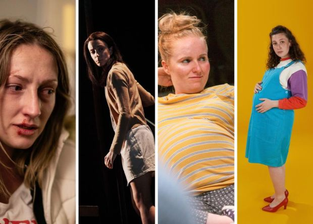 Best-actress nominees Sarah Morris, Maeve Fitzgerald, Lauren Larkin and Hazel Clifford