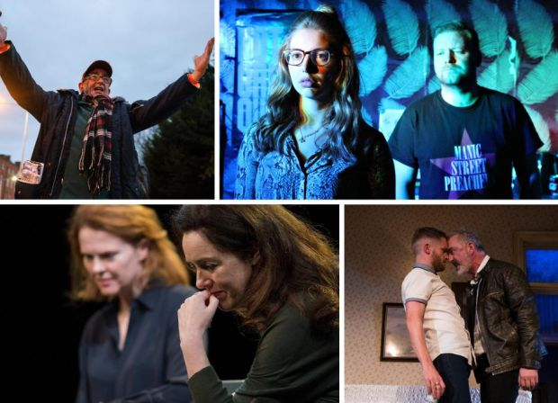 Best-new-play nominees (clockwise from top left) The Lost O'Casey, Northern Lights, Come on Home and The Approach