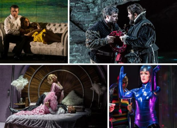 Best-opera nominees (clockwise from top left) Bluebeard's Castle, Il Bravo, The Tales of Hoffmann and Dinner at Eight