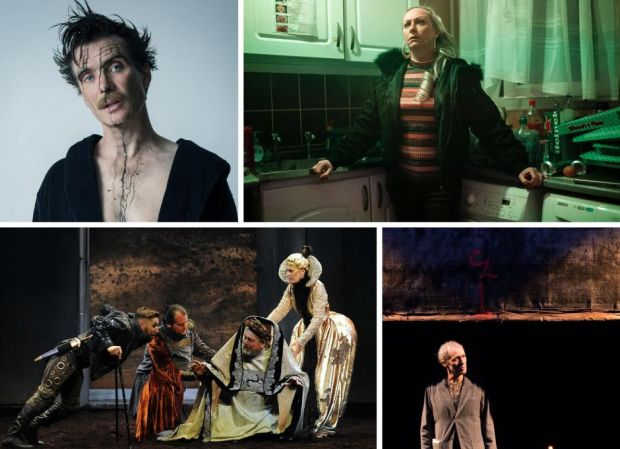 Best-production nominees (clockwise from top left) Grief Is the Thing with Feathers, How It Is, The Lost O'Casey and Richard III