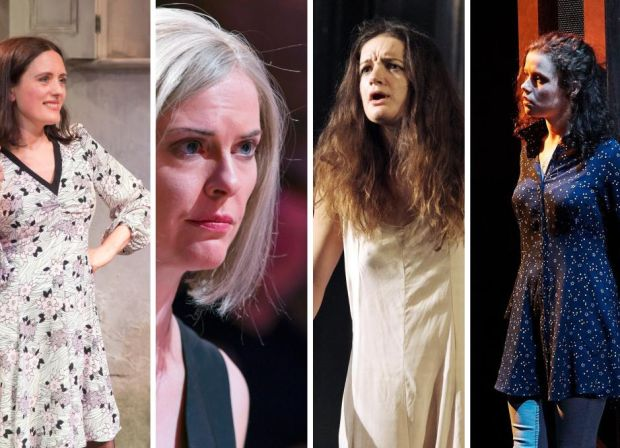 Best-supporting-actress nominees Rebecca O'Mara, Aisling O'Sullivan, Aoife Duffin and Zara Devlin