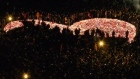 Gdansk lights a giant heart in tribute to slain mayor