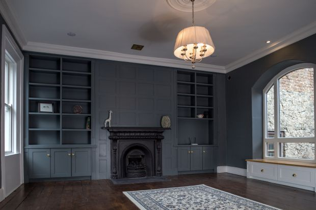 'Rather than replicate the Georgian style we wanted to show it as it is, a modern refurbishment.' Photograph: Paul Tierney