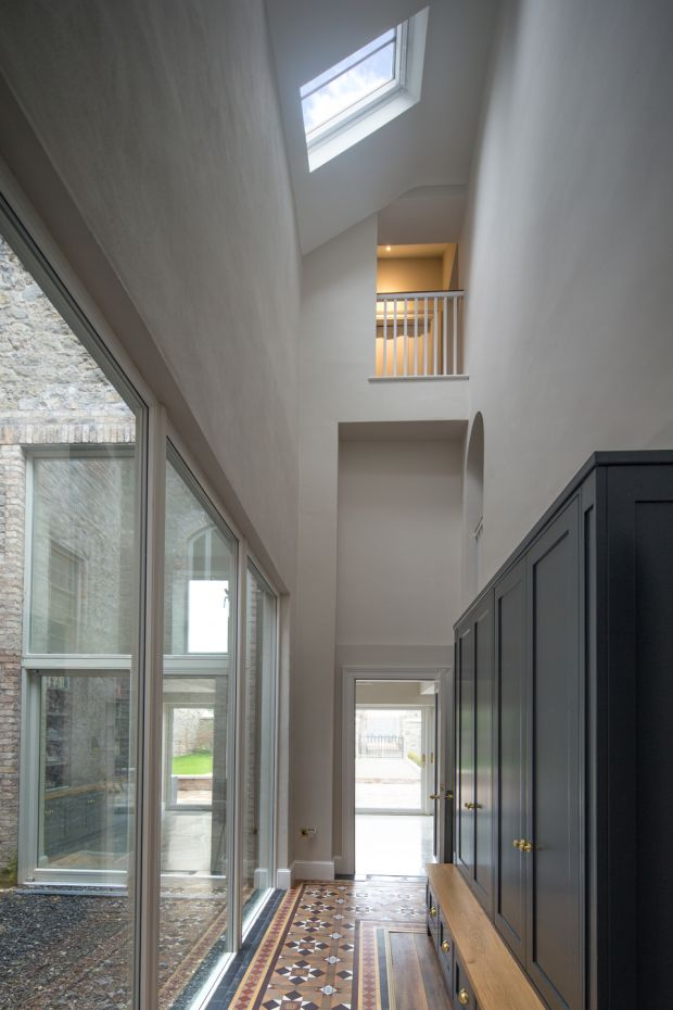 As well as two staircases, the residence had two halls. Photograph: Paul Tierney