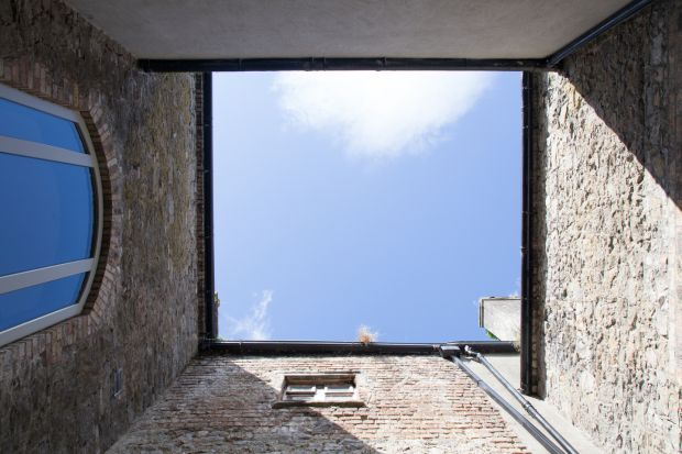 The house was originally laid out in a H-formation with two internal courtyards. Photograph: Paul Tierney