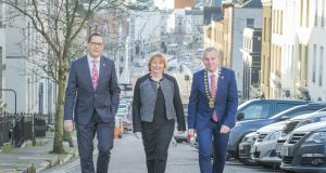 Cork Chamber CEO Conor Healy, vice president Paula Cogan and president, Bill O'Connell. Cork Chamber is celebrating its 200th anniversary this year.