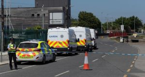 Gardaí investigating at Bray Boxing Club after a shooting in which Bobby Messett died and Pete Taylor was injured in June last year. File photograph: Colin Keegan/Collins Dublin
