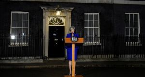 Britain's prime minister Theresa May outside  Downing Street: If the Dáil treated the Eighth Amendment vote  the same way the British parliament is treating Brexit, there would be outrage.  Photograph: Clodagh Kilcoyne