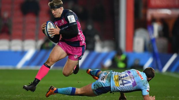 Ollie Thorley: the uncapped Gloucester winger is named in Eddie Jones's England squad for the game against Ireland. Photograph: Dan Mullan/Getty Images