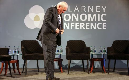 Former taoiseach Bertie Ahern opens the two-day Killarney Economic Conference, at the Brehon Hotel, Co Kerry. Photograph: Valerie O'Sullivan