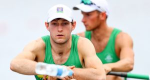 Gary O'Donovan and Paul O'Donovan: Gary is competing in New Zealand (and later  Australia)while Paul will take part in the Irish Indoor Rowing Championships in Limerick. Photograph: James Crombie/Inpho