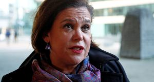 "Sinn Féin leader Mary Lou McDonald: she said   if the Government allowed the backstop to be renegotiated ""this Government will not be forgiven"""