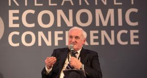 Former taoiseach Bertie Ahern at the Killarney Economic Conference. Photograph: Valerie O'Sullivan