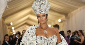 Rihanna: the singer was crowned the pope of fashion on social media after last year's Met Gala. Photograph: Damon Winter/New York Times