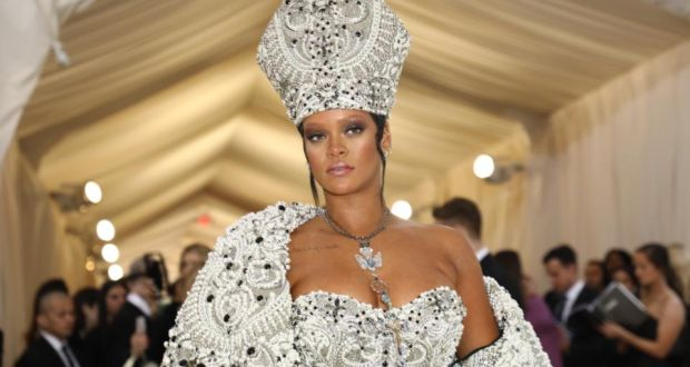 Rihanna  the singer was crowned the pope of fashion on social media after  last year s c3db595d82fd