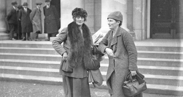 Constance Markievicz and Kathleen Lynn at Earlsfort Terrace probably taken at the treaty debates, circa Dec 1921-Jan 1922. Photograph: Independent News and Media/Getty Images