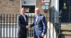 Michael Dineen, chief executive of Contracting Plus (right) with commercial director Jimmy Sheehan
