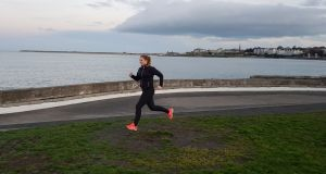 Rachel Flaherty  enjoying her newfound love of running. Photograph: Neil Coles