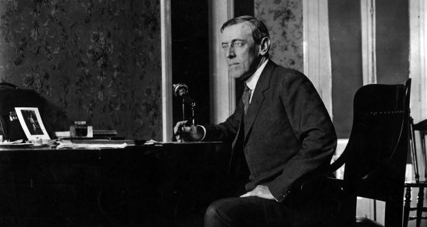 circa 1916:  Woodrow Wilson (1856 - 1924) the 28th President of the United States of America.  (Photo by Topical Press Agency/Getty Images)